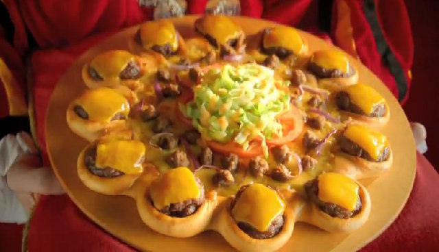 Not sure on this one: Pizza Hut's Cheeseburger-Crust Pizza